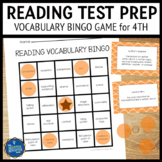Reading Test Prep 4th Grade Vocabulary Bingo
