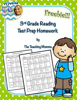 Reading Test Prep Homework Freebie