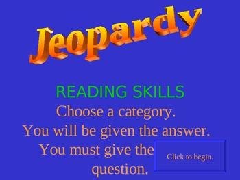 Reading Test Prep Jeopardy!