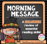 Reading Morning Work Spiraled Review: Halloween Edition