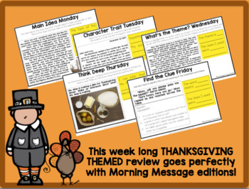 READING TEST PREP: Morning Message Thanksgiving Edition