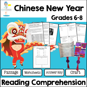 Chinese New Year Reading Comprehension - Informational Text * Questions + more!