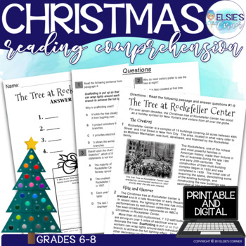 Christmas Reading Comprehension - Informational Text * Que