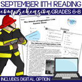September 11th Reading Comprehension - Passage, Questions