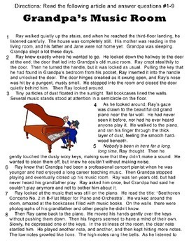 Reading Test Prep - Non-fiction*Fiction*Poetry*Essay Writing