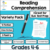 Reading Comprehension Passages - Fiction, Non-Fiction and Poetry