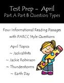 Reading Test Prep Part A Part B Questions April Informational Passages