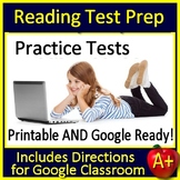Reading Test Prep Passages & Questions Distance Learning Print+ Google Classroom