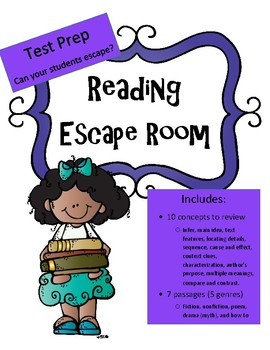 Reading Test Prep Review Game: Escape Room