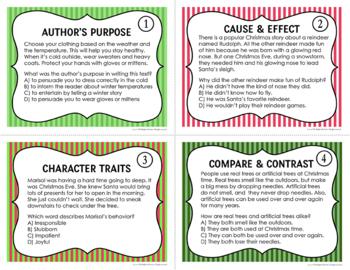 Reading Test Prep Task Cards