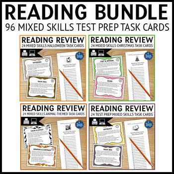 Reading Test Prep Task Cards Bundle