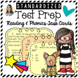 Reading Test Prep Task Cards   Comprehension and Phonics