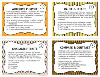 Halloween Reading Mixed Skills Task Cards