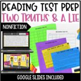 Reading Test Prep | Two Truths & a Lie: Nonfiction w/ Digital Test Prep Version