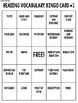 Reading Test Prep (Vocabulary Bingo)