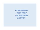 Reading Test Prep Vocabulary Matching Activity
