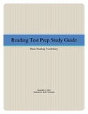 Reading Test Prep Vocabulary Study Guide