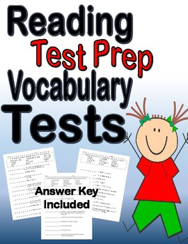 Reading Test Prep Vocabulary Tests