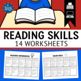 Test Prep Reading Worksheets