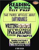 "SBAC Reading & Writing Test Prep 2 Articles Paired ""Earthquake!"" ""About Quakes"