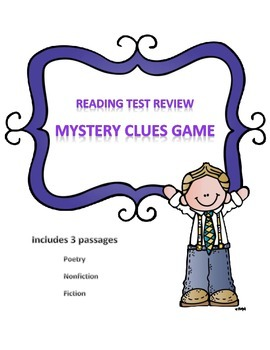 Reading Activity Game Test Review Mystery Clues