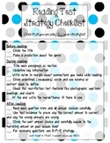 Reading Test Strategies Checklist {Great for Standardized