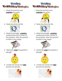 Reading Test Taking Strategies Bookmark