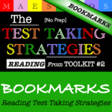Reading Test Taking Strategies - Bookmarks (from Toolkit #2)