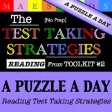 Reading Test Taking Strategies - A Puzzle a Day (from Toolkit #2)