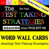 Reading Test Taking Strategies - Word Wall Cards (from Too
