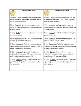 Reading Testing Strategies-Spanish