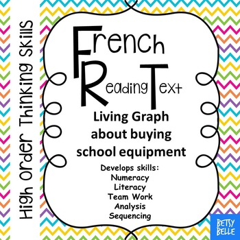 French, School Equipment: Reading Text Living Graph