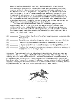 Reading: The Far West, AMERICAN HISTORY LESSON 49 of 100 Primary Source Activity
