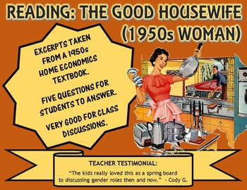 "Reading: ""The Good Housewife"" (1950s Woman)"