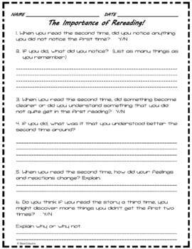 Reading: The Importance of Rereading Story Frame