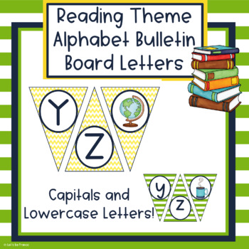 Reading Theme Alphabet Bulletin Board Letters