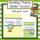 Reading Theme Binder Covers - Editable