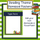 Reading Theme Classroom Dismissal Posters - Editable