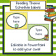 Reading Theme Classroom Schedule Labels - Editable