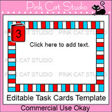 Editable Task Cards Template - Reading Theme