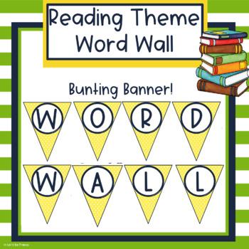 Reading Theme Word Wall - Editable