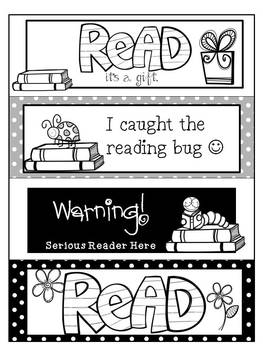 Reading Themed Bookmarks