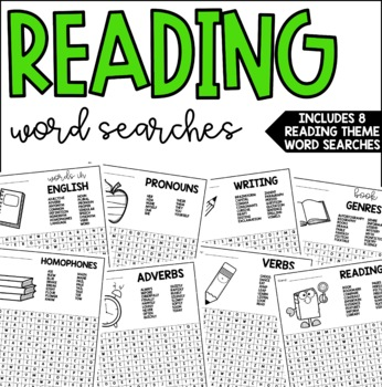 Reading Themed Word Searches