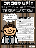 Reading Thermometers {Freezing, Boiling, & Body Temperature}- Order Up!