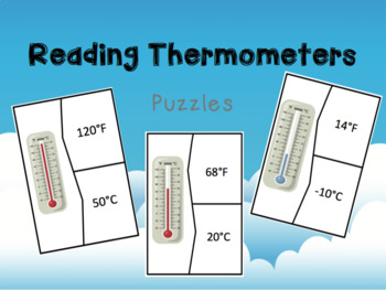 Reading Thermometers Puzzles (°F and °C) - 3.ESS2.1