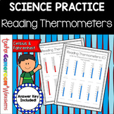 Reading Thermometers Worksheet