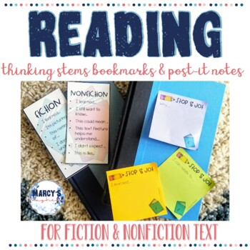 Reading Bookmarks for Fiction & Nonfiction thinking Stems