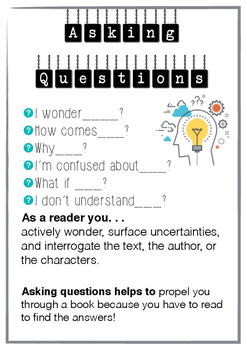 Reading Thinking Stems -  Classroom Posters