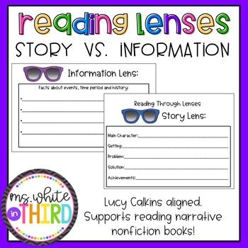 Reading Through Lenses- Narrative Nonfiction Support