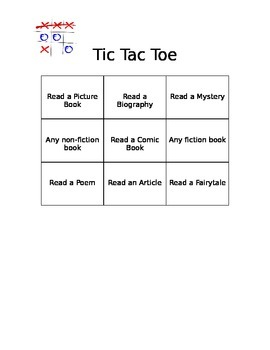 Reading Tic-Tac-Toe